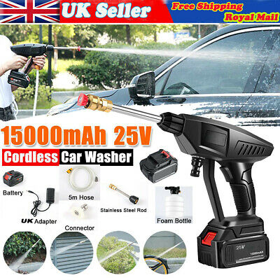 £55.98 • Buy 25V Portable Cordless Car High Pressure Power Jet Washer Water Wash Cleaner Tool
