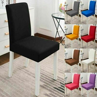 AU12.99 • Buy 6PCS Stretch Dining Chair Cover Removable Slipcover Washable Banquet Seat Cover