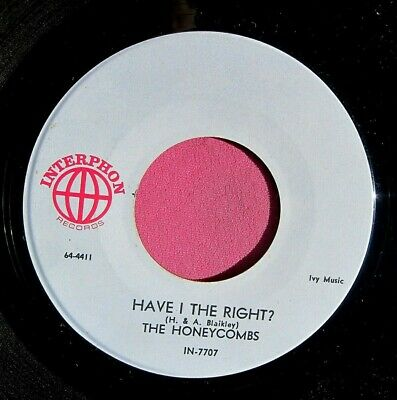 £7.31 • Buy THE HONEYCOMBS - Have I The Right - Super Clean 45 Rpm - Interphon 7707