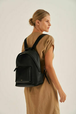 AU269.99 • Buy Oroton Anna Medium Leather Backpack Womens Black NWT RRP$399 With Dustbag