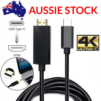 AU12.50 • Buy  HDMI Cable USB 3.1 To USB C Type C Male To HDMI 4K UHD Thunderbolt Cable