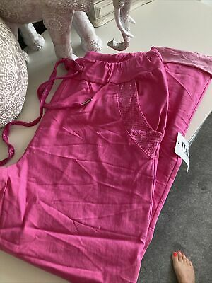 £16 • Buy Bnwt Made In Italy Bright Pink Sequin Magic Pants Super Anazing Stretch!! 8-18