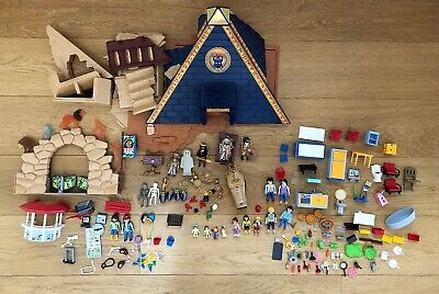 £17 • Buy Playmobil Bundle With Egyptian Pyramid Set Plus Figures Furniture Accessories