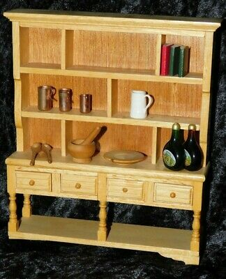 £6.55 • Buy Dolls House Cabinet Dresser With Accessories