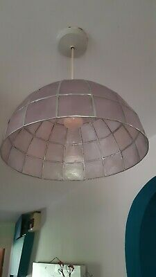 £14.99 • Buy Gorgeous Lilac/Silver Capiz Shell Ceiling Light Shade