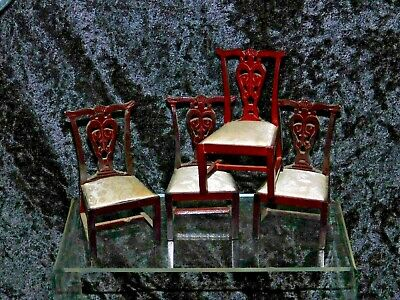 £2.99 • Buy 4 X DOLLS HOUSE Dining Room Chairs