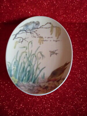 £5 • Buy Royal Worcester Country Diary Of Edwardian Lady Oval Plate - February