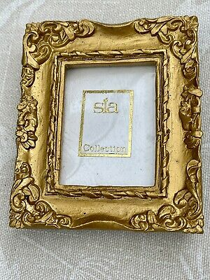 £6.99 • Buy Miniature Baroque Rococo Gold Picture Photo Frame New Boxed Old Stock Gift Sia
