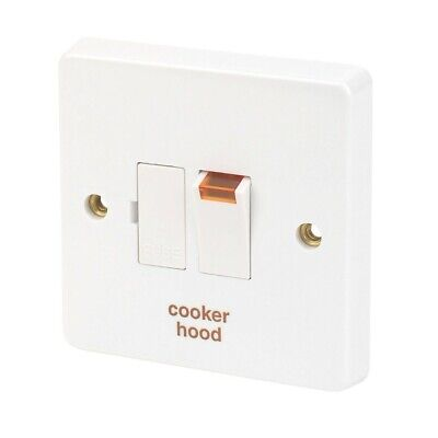 £4.95 • Buy Crabtree 13A Spur Fused Switch White With Neon Labelled COOKER HOOD - Brand New