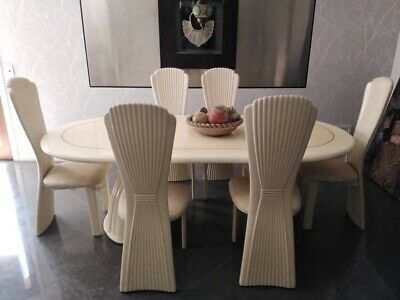 AU500 • Buy Oval Cream Dining Table And Chairs- Used Condition