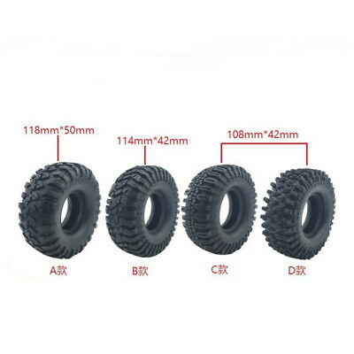 £23.99 • Buy 4pcs 1.9  Rock Crawler Rubber Tires Tyre For SCX10 90046 D90 TRX-4 Axial RC4WD