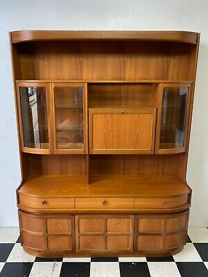 £175.50 • Buy Vintage Retro Nathan Glazed Teak Wall Unit Display Drinks Cocktail Cabinet Cambs