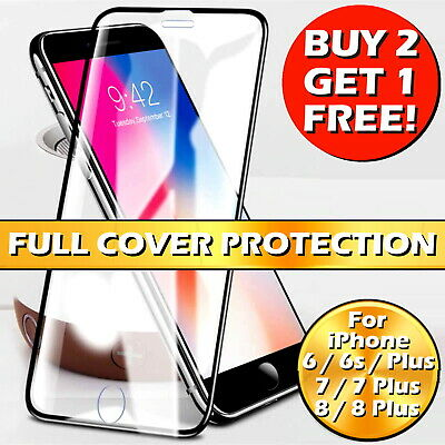 £2.79 • Buy For IPhone 6 7 8 Plus SE 2 Full Cover Gorilla Tempered Glass Screen Protector