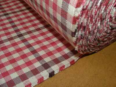 £5.50 • Buy 13 Metres Romo Fabric Berry Check Cotton Linen Fabric Curtain Upholstery Cushion