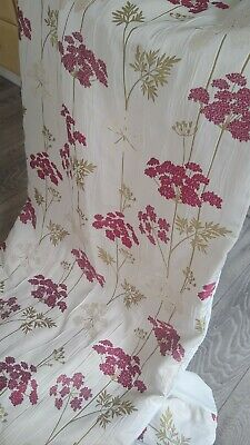 £10 • Buy Pretty Floral Ivory Lined Curtains Taped Top 64 W X 71 L Curtains By Montgomery