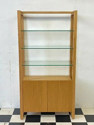 £292.50 • Buy Modern M&S Colby Oak Bookcase Shelf Unit With Glass Shelves RRP £599 - Delivery