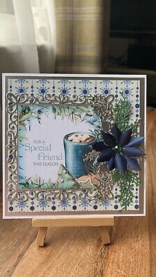 £1.25 • Buy Beautiful Handmade 3d Paper Boutique Christmas Card Topper For A Special Friend