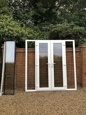£122 • Buy Exterior External Upvc Double Glazed French Doors In Frame With Side Windows