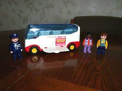 £7 • Buy Playmobil 123 Holiday Coach / Bus + Figures & Suitcase