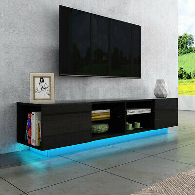 AU219.95 • Buy New TV Stand Cabinet Entertainment Unit LED TV Console Table High Gloss Black