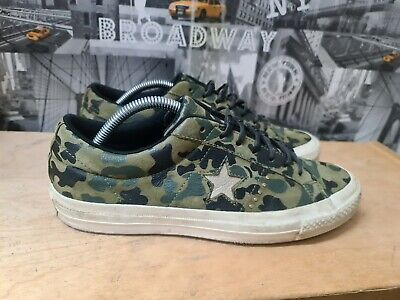 £17 • Buy Converse One Star Ox Trainers In Camouflage Size UK 8 EU 41