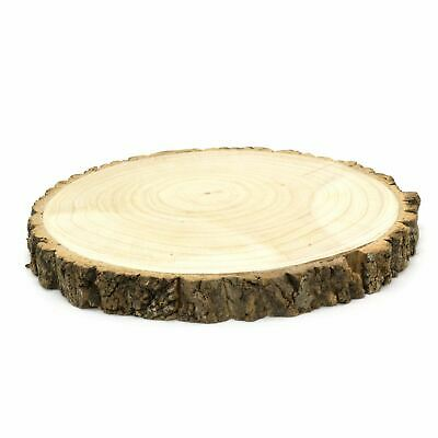 £15.99 • Buy 31cm Rustic Wooden Tree Trunk Slice   Wedding Table Centerpiece   Cake Stand