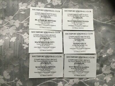 £19.99 • Buy 2003-04 Collection Of 6 Everton Fc Reserve Team Match Tickets Southport Fc
