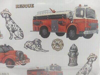 £3.51 • Buy Fire Engine Fire Truck Fire 🔥 Dog Wall Appliques Kids Wall Stickers Waverly