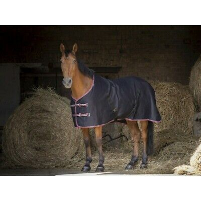 £22.99 • Buy EquithÈme  Brillante  Summer Sheet In Navy With Bblue And Pink Trim Colours