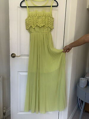 £15 • Buy Topshop Concession Brand 'Darling' Neon Yellow Dress – Size XS