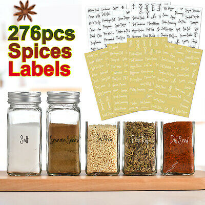 £5.39 • Buy 276PCS Stickers Spices Herb Labels Printed Storage Jar Stickers Decals Pantry
