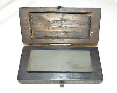 £1.20 • Buy Old Sharpening Stone In Wooden Box / Case Old Tool Woodworking Tool