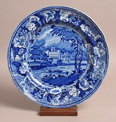 £25 • Buy Attractive Antique Pearlware Transfer Printed Plate Taymouth Perthshire Scotland