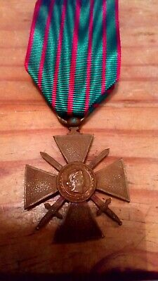 £14 • Buy French Forces /foreign Legion Ww1 Croix De Guerre Dated 1914-1918 With New...