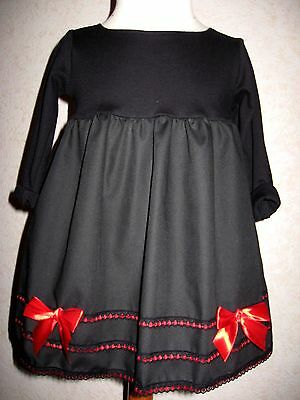 £25.50 • Buy Party Gothic Dress Baby Girls Black Red Lace Headband Outfit  Shower Gift Rock