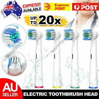 AU13.95 • Buy 20pcs Electric Toothbrush Replacement Heads For Oral B Braun Models Series New