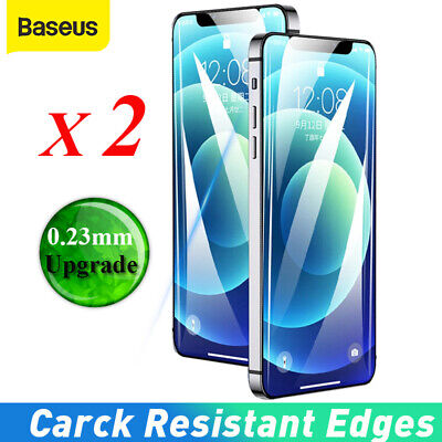 AU9.59 • Buy 2x Baseus 0.23mm Screen Protector Full Cover Tempered Glass For IPhone 13 12 Pro