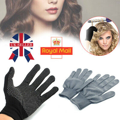 £2.88 • Buy Black Heat Proof Resistant Protective Gloves For Hair Styling Tools Straightener