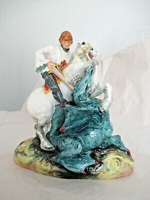 £95 • Buy Royal Doulton Bone China Character Figurine St. George (and The Dragon) HN 2051