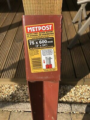 £7 • Buy One Metpost System Fence Post Spike 75 Mm X 600 Mm