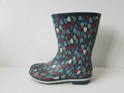 £14.99 • Buy SEASALT Blue Red Patterned Deck Wellies Wellington Boots Size 6 / 39.5 WORN ONCE