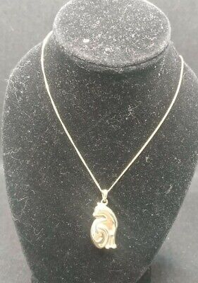 £10.90 • Buy 9CT 375 SOLID YELLOW GOLD WITH CAT PENDANT ON CHAIN NECKLACE (no Scrap)