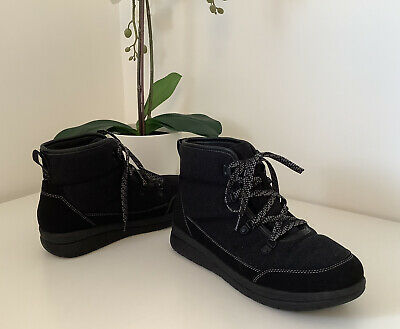 £8.50 • Buy Ladies CLARKS CLOUDSTEPPERS Comfort Quilted Ankle Boots, Size 5.5D, Excellent