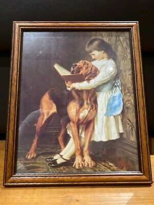 £22.75 • Buy Pears Soap Advertising Framed Picture, Girl With A Hound, Excellent Condition