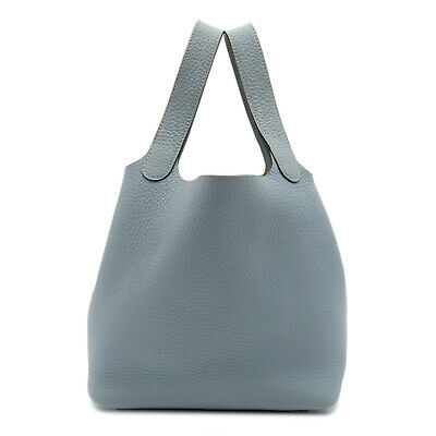 AU2918.44 • Buy HERMES Picotin Lock PM Tote Bag Blue Lin Taurillon Clemence Leather Used