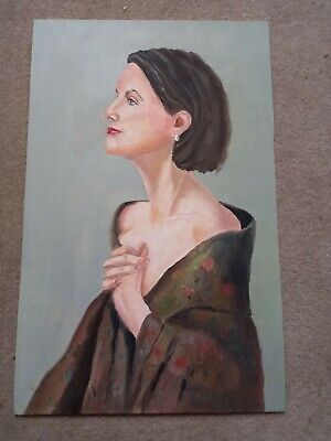 £10.49 • Buy Oil Painting Female By Simon Cole Oil On Canvas Panel Original