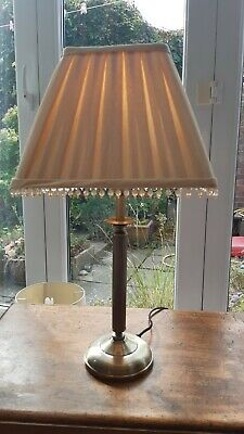 £9.99 • Buy Golden Beaded Pleated Table Lamp Shade