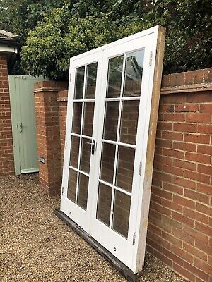 £52 • Buy Exterior External Wooden Double Glazed French Doors In Frame With Cill
