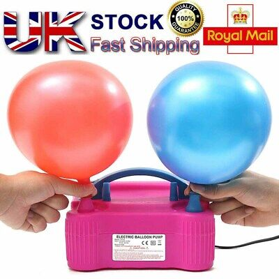 £16.99 • Buy  600W Electric Balloon Air Pump Automatic Inflator Dual Nozzle Blower W/UK Plug