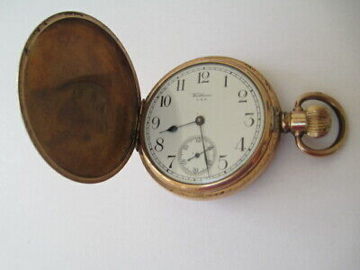£50 • Buy Vintage Gents WALTHAM Rolled Gold Full Hunter POCKETWATCH Hand-Wind WORKING